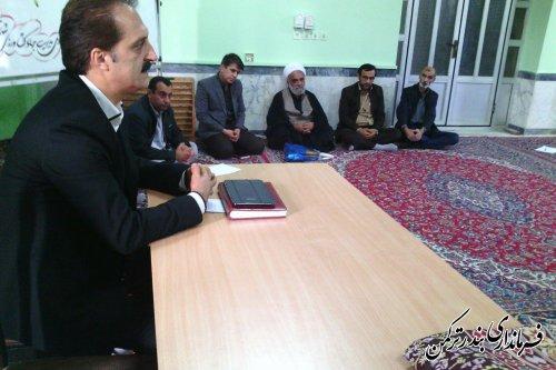 نشست معاون فرماندار با کارکنان اداره جهاد کشاورزی شهرستان ترکمن