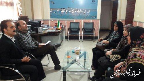 دیدار مدیر کل امور بانوان و خانواده استانداری با فرماندار ترکمن