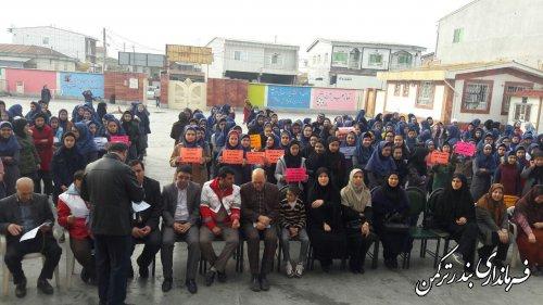 نواخته شدن زنگ کتاب در شهرستان ترکمن به دست فرماندار