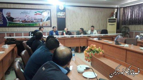جلسه طرح ملی مدیریت نشانی مکان محور در شهرستان ترکمن برگزار شد