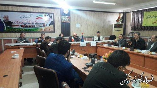 برگزاری جلسه کارگروه سلامت و امنیت غذایی شهرستان ترکمن