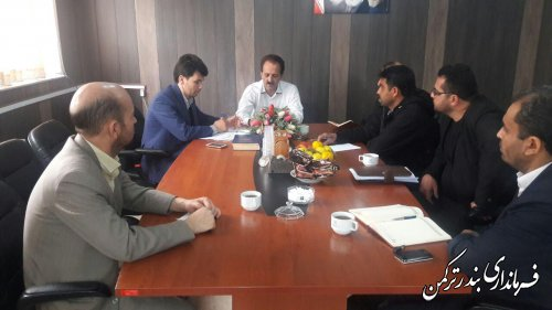 برگزاری جلسه بررسی وضعیت تفرجگاههای شهرستان ترکمن