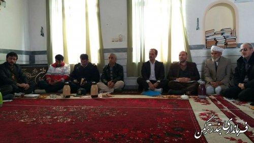 حضورکاروان  امید در روستای اورکت حاجی شهرستان ترکمن
