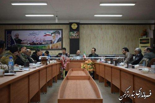 جلسه کمیسیون مبارزه با قاچاق کالا در شهرستان ترکمن برگزار شد