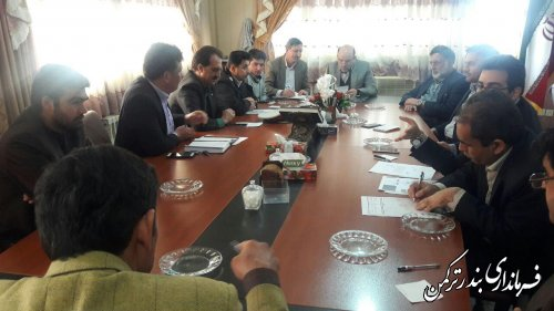 برگزاری جلسه شورای ترافیک شهرستان ترکمن