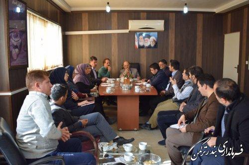 برگزاری چهارمین جلسه ستاد انتخابات شهرستان ترکمن