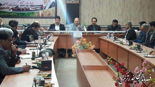 برگزاری جلسه نکوداشت هفته شهید در شهرستان ترکمن