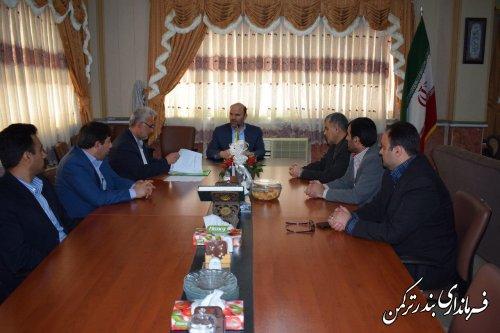 نشست فرماندار با اعضای هیأت نظارت بر انتخابات دوازدهمین دوره ریاست جمهوری در حوزه انتخابیه شهرستان ترکمن