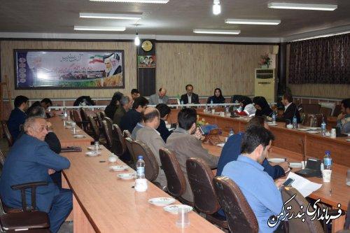 اولین جلسه  کمیته اطلاع رسانی انتخابات شهرستان ترکمن  برگزار شد