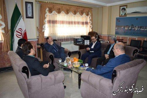 بازدید مدیرکل دفتر روستایی از ستاد انتخابات شهرستان ترکمن