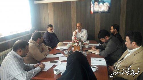 جلسه کمیته امنیت ستاد انتخابات شهرستان ترکمن برگزار شد