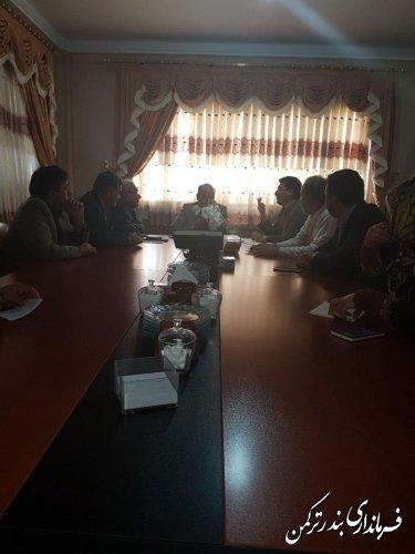 جلسه مشترک اعضای هیأت های اجرایی و نظارت انتخابات شهرستان ترکمن برگزار شد