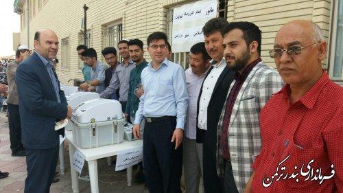 حضور فیروزی فرماندار در مانور انتخاباتی تمام الکترونیک شورای شهر بندرترکمن