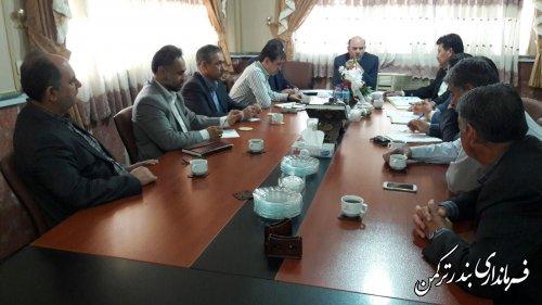 دومین جلسه کارگروه ساماندهی آرد، نان و گندم شهرستان ترکمن برگزار شد