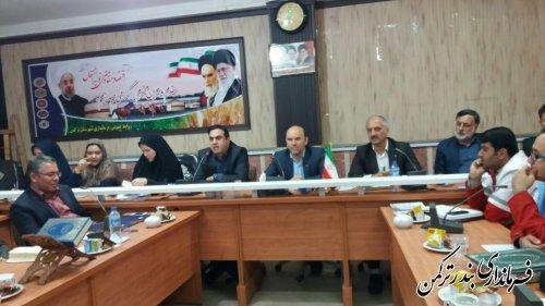 برگزاری مراسم تکریم و معارفه رئیس کتابخانه عمومی شهرستان ترکمن