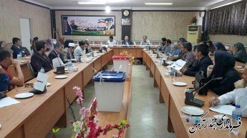 اولین جلسه آموزشی و توجیهی اعضای شعب انتخابات شهرستان ترکمن برگزار شد