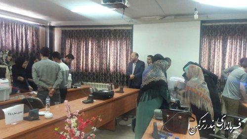 بازدید فرماندار از آموزش کاربران رایانه شعب اخذ رای