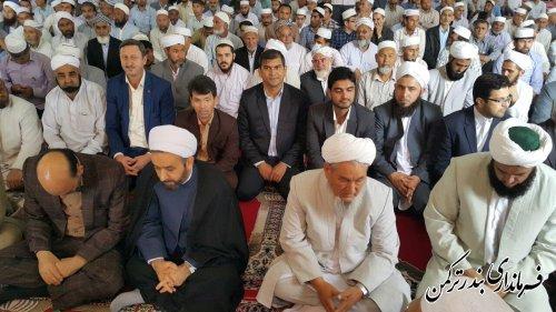 مراسم معارفه ائمه جمعه اهل سنت بندر ترکمن برگزار شد