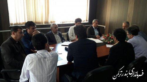 جلسه بررسی مشکلات تصفیه خانه شهرستان ترکمن برگزار شد