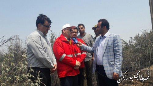 آتش سوزی در جزیره آشوراده با حضور به موقع نیروهای امدادی مهار شد
