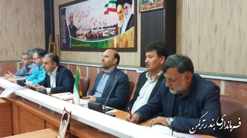 جلسه کارگروه سلامت و امنیت غذایی شهرستان ترکمن تشکیل شد