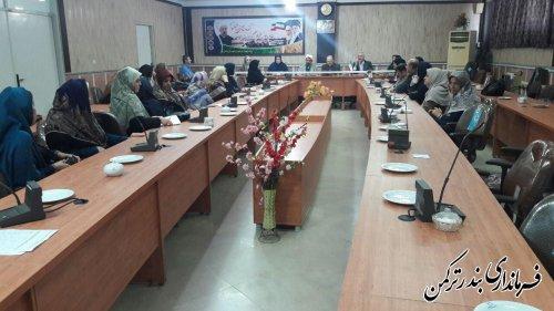برگزاری جلسه کارگروه امور بانوان و خانواده شهرستان ترکمن