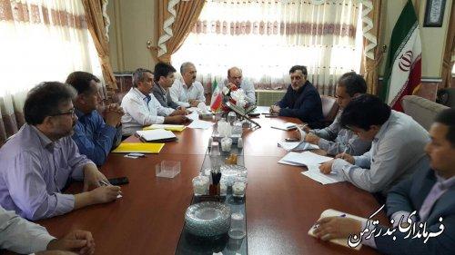سومین جلسه ستاد ساماندهی و طرح های سالم سازی دریا  در بندر ترکمن