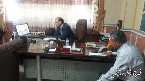 جلسه ویدئو کنفرانس شبکه دولت شهرستان ترکمن برگزار شد