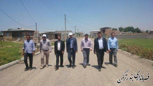 بازدید فرماندار ترکمن  از روند اجرای طرح هادی روستای پنج پیکر