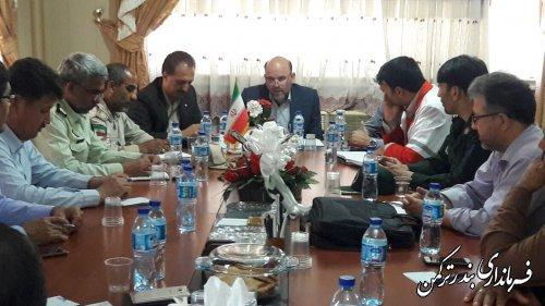 جلسه ستاد هماهنگی اربعین حسینی شهرستان ترکمن برگزار شد