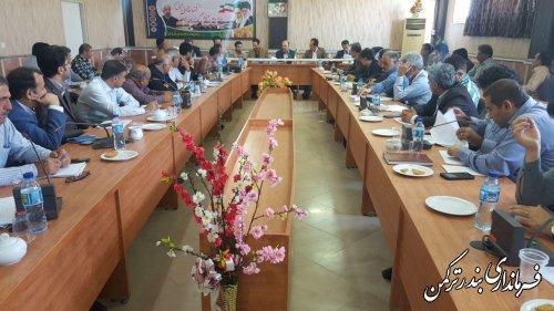 جلسه کمیته برنامه ریزی شهرستان ترکمن