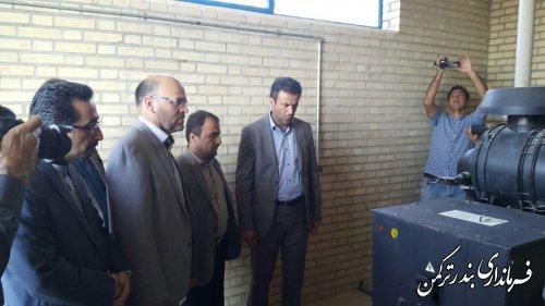 ایستگاه پمپاژ فاضلاب شهرستان ترکمن افتتاح شد