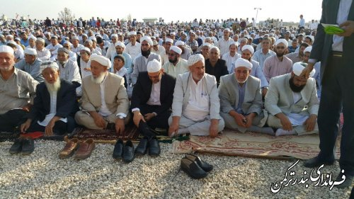 حضور فرماندار در نماز عید سعید قربان شهرستان ترکمن