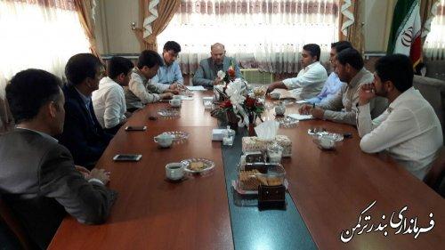 نشست اعضای شورای اسلامی  شهر بندرترکمن با فرماندار