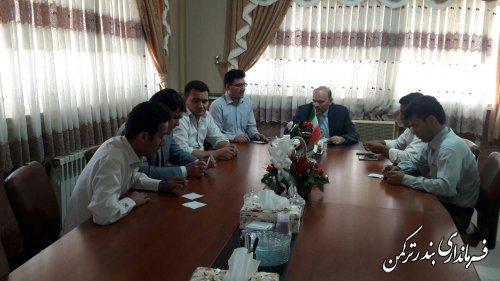 جلسه انتخاب هیات رئیسه شورای شهرستان ترکمن برگزار شد
