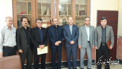 رئیس امور مالیاتی شهرستان ترکمن تودیع و معارفه شد