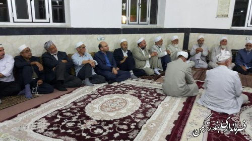 حضور فرماندار در مراسم عزاداری امام حسین (ع) در حوزه علمیه شهرستان ترکمن