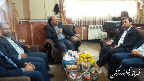 دیدار مدیرکل تعزیرات حکومتی استان با فرماندار شهرستان ترکمن