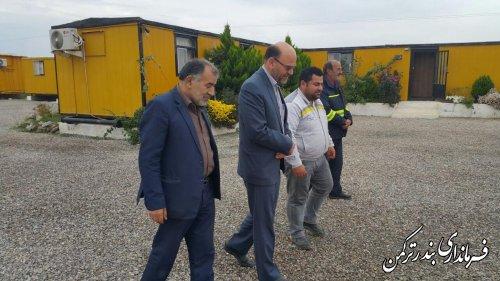 بازدید فرماندار ترکمن از کارگاه ریل راه آهن بندرگز به قره تپه