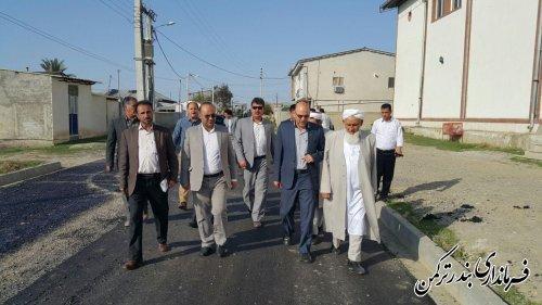 بازدید مدیرکل دفتر امور روستایی و شوراها  از اجرای طرح هادی روستای پنج پیکر