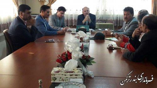 جلسه هماهنگی برگزاری نوزدهمین مانور زلزله و ایمنی مدارس (8آذر) شهرستان ترکمن برگزار شد