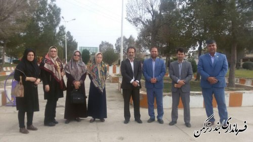 بازدید معاون فرماندار از پارک بانوان شهرستان ترکمن