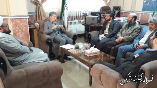 دیدار رئیس و کارکنان کمیته امداد شهرستان ترکمن با سرپرست فرمانداری