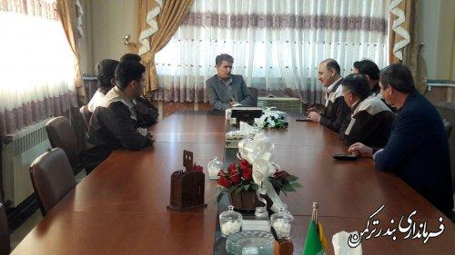 دیدار رئیس و کارکنان مرکز آموزش فنی و حرفه ای شهرستان ترکمن با سرپرست فرمانداری