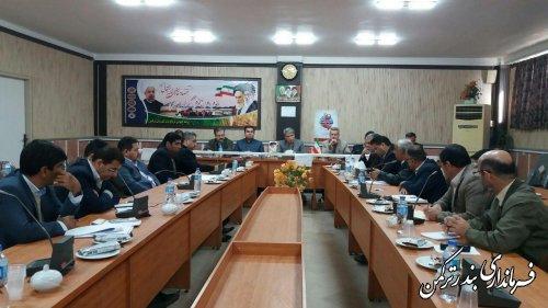 جلسه کارگروه سلامت  وامنیت غذایی شهرستان ترکمن برگزار شد