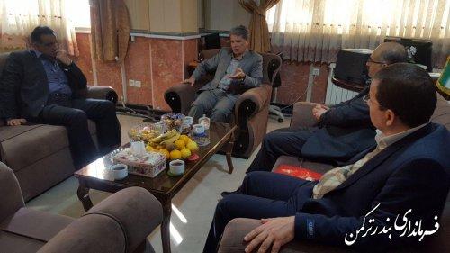 دیدار مدیرعامل آبفا استان با هیوه چی سرپرست فرمانداری ترکمن