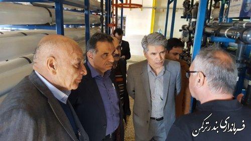 بازدید مدیرعامل آبفا استان از تاسیسات پروژه آب شیرین کن شهرستان ترکمن