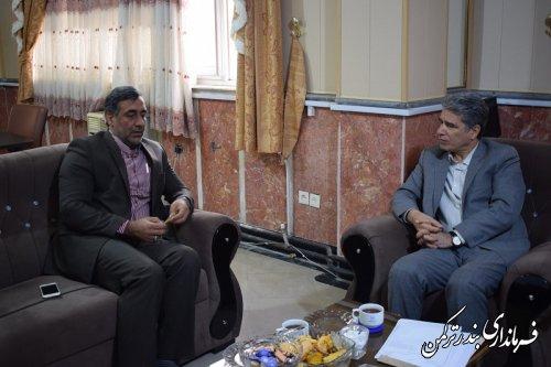 دیدار مدیرکل بنادر و دریانوردی استان با سرپرست فرمانداری ترکمن