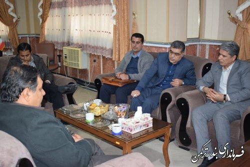 دیدار معاون طرح و توسعه شرکت آب منطقه ای استان با سرپرست فرمانداری ترکمن