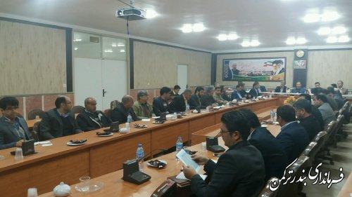 جلسه ستاد اشتغال شهرستان ترکمن برگزار شد